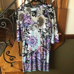 Eci Shift Floral Dress size 2